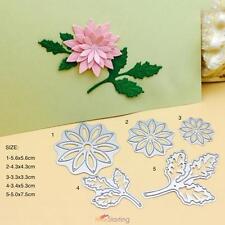 5pcs 3D Flowers Leaves Metal Cutting Dies Stencils DIY Scrapbook Embossing Craft