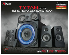 TRUST 21738 GXT658 TYTAN 180W 5.1 SPEAKER SET WITH WIRELESS REMOTE CONTROL