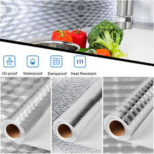 Kitchen Oil-proof Aluminum Foil Wall Stickers Self Adhesive Waterproof Wallpaper