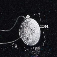 925 Silber Anhänger zum öffnen Medaillon Amulett 2 Fotos Medallion aufklappbar