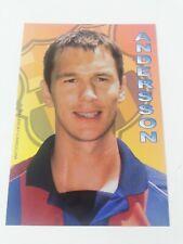 POSTAL PATRICK ANDERSSON FC BARCELONA 2001-2002 FOOTBALL POSTCARD BARÇA SWEDEN.