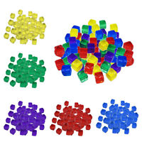 100pcs 10mm Transparent Cube Tower Dice Tower Cube Tower pour jeu de société