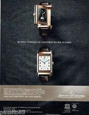 PUBLICITE ADVERTISING 056  2010  Jaeger-Lecoultre montre Grande Reverso