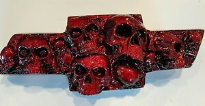 Silverado/Avalanche/Tahoe Custom Skull Emblem 2000-13 - Hot Raspberry Kandy
