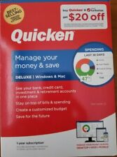 2020 Quicken Deluxe 1-year Membership for Windows & Mac NEW - FREE SHIP