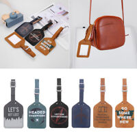 Luggage Tag Travel Suitcase Bag Id Tags Address Label Baggage Card Holder