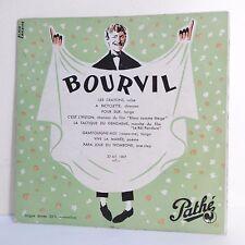 33T 25cm BOURVIL Vinyle CRAYONS -BICYCLETTE -TACTIQUE GENDARME - PATHE 1007 RARE