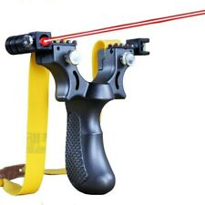 Laser Resin Slingshot Catapult with Rubber Band Outdoor Hunting Shooting