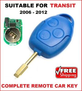 Remote Car Key Fob suitable for Ford Transit 2006 2007 2008 2009 2010 2011 2012