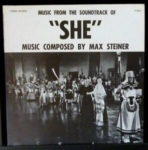 """Music From The Soundtrack of """"She"""" - 1950 US Pressing  - NEAR MINT Vinyl LP"""