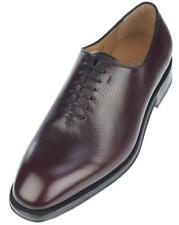 "NEW SALVATORE FERRAGAMO ""CARMELO"" BROWN PEBBLE LEATHER OXFORD DRESS SHOES 10 EEE"