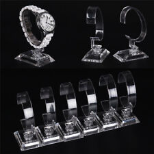 2x Jewelry Transparent Wrist Watch Display Rack Holder Sale Show Case Stand Tool