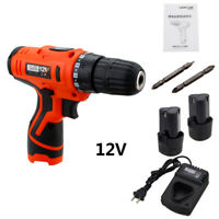 12V Electric Screwdriver Li-ion Battery Rechargeable Cordless Drill Power Tools