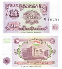 Tayikistán 20 rublos 1994 P-4 Antigua URSS Billetes Unc