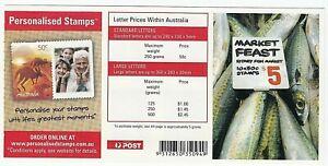 2007 STAMP BOOKLET 'MARKET FEAST - SYDNEY FISH MARKET' 10 X 50c MNH STAMPS