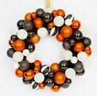 Halloween Orange/Black/White Ornament Wreath