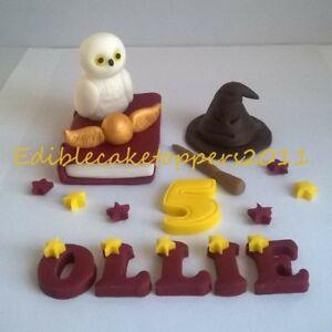 Harry Potter style handmade edible cake topper birthday