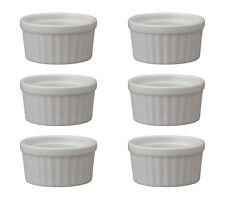 HIC Porcelain Ramekin 6-ounce, 3.5-inch, Set of 6
