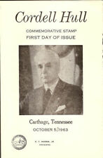 #1235 First Day Ceremony Program 5c Cordell Hull