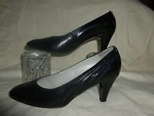 VINTAGE BALLY BLACK COURT SHOES  UK 5.5   MADE   IN ENGLAND