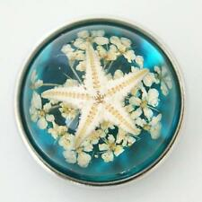 Fits Ginger Snaps Snap Sea Life Interchangeable Jewelry Button Charm 18mm