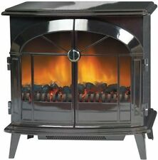 New Dimplex StockBridge 2kW Electric Stove Fire Black - Optiflame - Rem Control