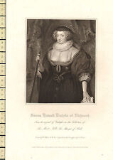 1818 GEORGIAN DATED PRINT ~ FRANCES HOWARD DUCHESS OF RICHMOND