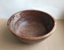 Vintage Natural Bowl Rich Wood Hand Carved/Turned Decor Table Top Centerpiece
