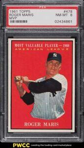 1961 Topps Roger Maris MVP #478 PSA 8 NM-MT