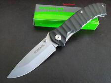 "Schrade 4.75""Liner Lock Drop Point SCH221BK Folding Pocket Knife,Hunting,Bush"