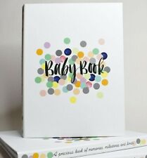 RHICREATIVE New Edition Baby Record Book Journal Keepsake Photo Album Scrapbook