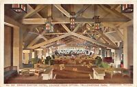 D67/ Yellowstone National Park Postcard c'10 Haynes Grand Canyon Hotel Lounge 6