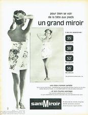 PUBLICITE ADVERTISING 036  1964  SiniMiror  miroir salle de bains