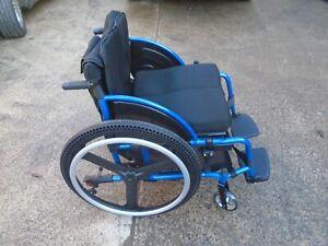 Active wheelchair Superb quality lightweight aluminium in blue DAMAGED BOX