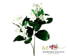 Stephanotis Jasmine White Artificial Silk Wedding Flowers Fake Faux Bouquet