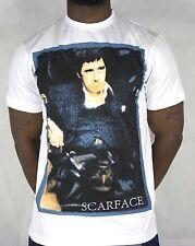 Scarface original licensed t shirts, designer hiphop bling tees urban, retro wht