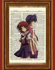 Clannad Anime Dictionary Art Print Poster Picture Nagisa Furukawa Tomoya Okazaki