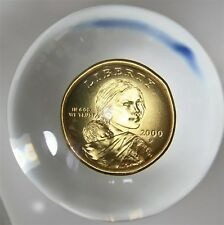 2000 SACAGAWEA COIN PAPERWEIGHT