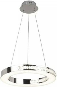 """Modern Dimmable LED Chandelier Fixtures Round Hanging Lamps 1 Ring 15.57"""" Dia."""