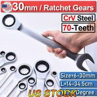 12Pcs 72-Teeth 12-Point Combination Ratchet Gear Ratcheting Wrench Spanners Tool