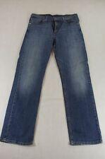Levis Levi's Jeans 752 Straight-Cut W33 L32 33/32 blau uni -913