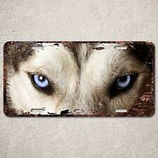 LP0278 Rust Auto License Plate Siberian husky eyes cafe Bar Home wall Decor sign