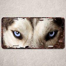 LP0278 Rust Auto License Plate Siberian husky eyes cafe Bar Home wall Decor sign