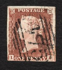 Qv 1841 Sg 8-12 ( I E ) 1d red brown - 4 margin with 475 cancel of Loughborough.