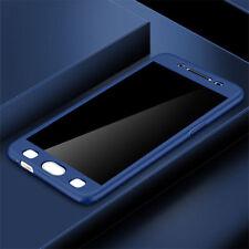 360° Full Cover Hybrid Case + Tempered Glass For Samsung J3 J5 J7 Pro J4 J6 J8
