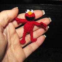 Handmade Dollhouse Miniature Ooak Elmo Sesame Street Artist Doll Muppet Toy Gift