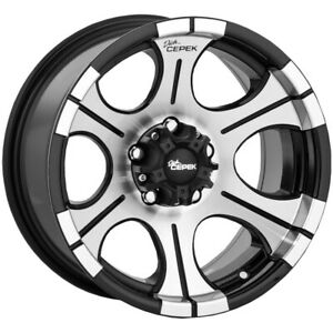 "Dick Cepek DC2 15x8 5x4.5"" -21mm Black/Machined Wheel Rim 15"" Inch"