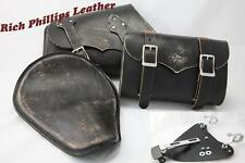 Spring Solo Seat Saddle bag Tool Roll Set Sportster Harley 48 Nightster 1200 883