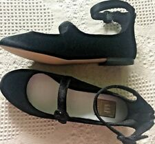 New with box Gap womens size 7.5 71/2 velvet shoes black mary jane flats