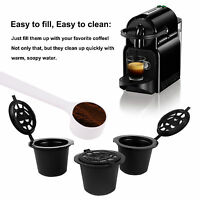 5 x Refillable Reusable Capsules Pods For Nespresso Coffee Machines + Spoon Set